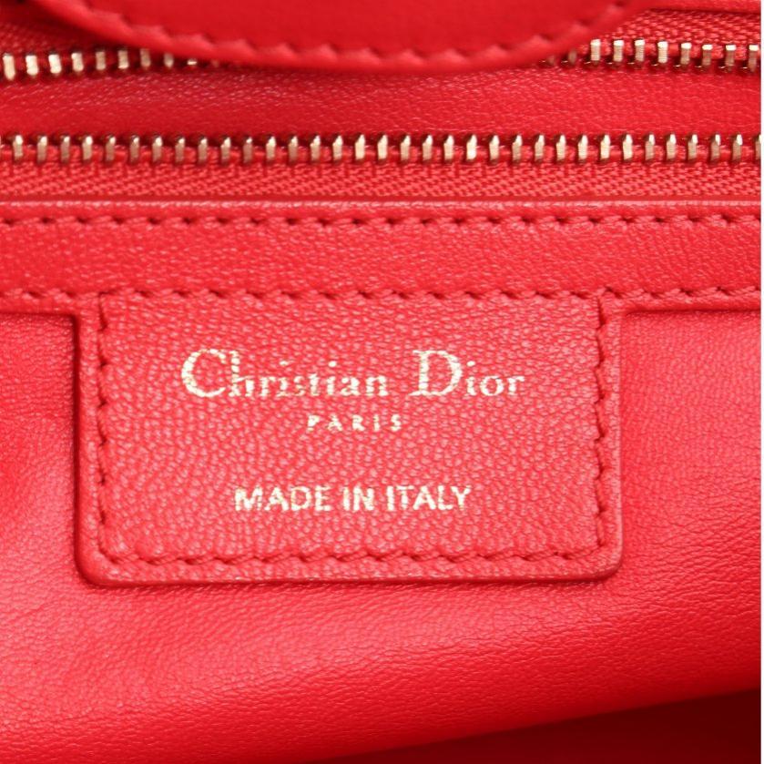 Christian Dior・バッグ・デリディオール ハンドバッグ レザー ピンクレッド 2WAY