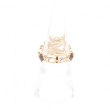 CHANEL・アクセサリー・ココマーク リング 指輪 カラーストーン ゴールド マルチカラー 12P