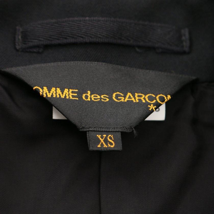 Comme des Garcons・アウター・ テーラードジャケット ロング 黒 カッティング リボン