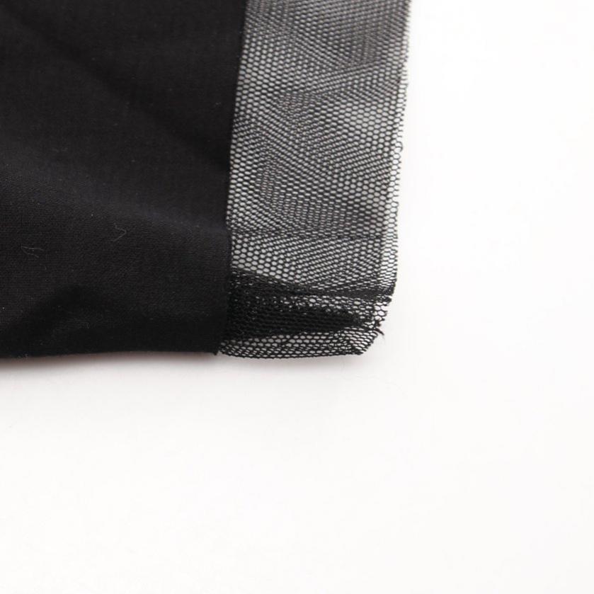 DIESEL・ワンピース・ ワンピース メッシュ 半袖 コットン 黒