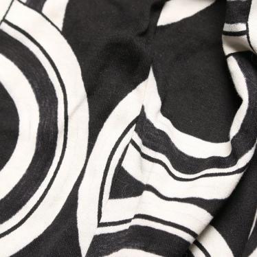 DOLCE&GABBANA・トップス・ パーカー 総柄 ジップアップ オーバーサイズ 黒 白