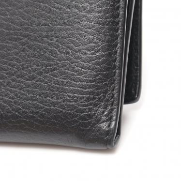 GUCCI・財布・小物・インターロッキングG 二つ折り長財布 レザー 黒