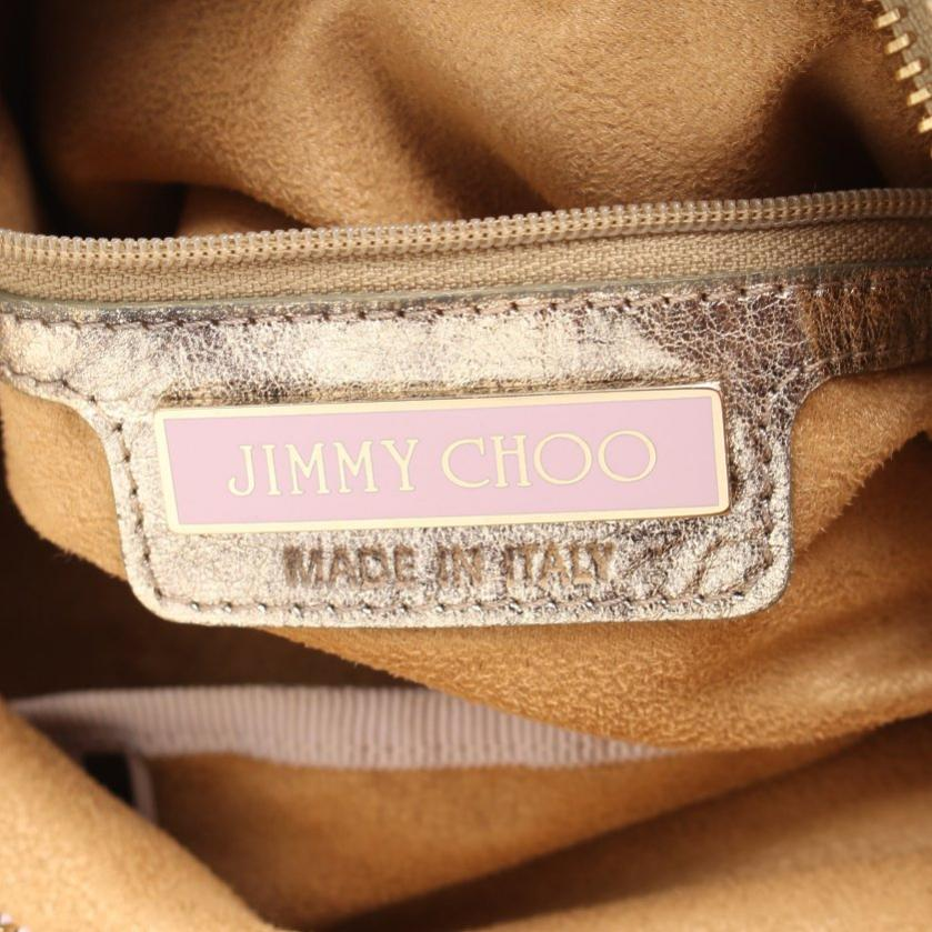 JIMMY CHOO・バッグ・スカイバッグ ハンドバッグ レザー シャンパンゴールド パンチング