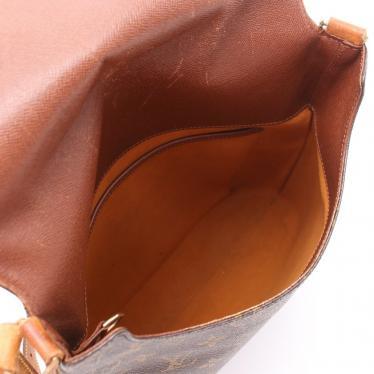 LOUIS VUITTON・バッグ・ミュゼット モノグラム ショルダーバッグ PVC レザー 茶