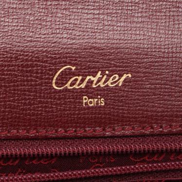 Cartier・バッグ・マストライン ハンドバッグ レザー ボルドー トップハンドル