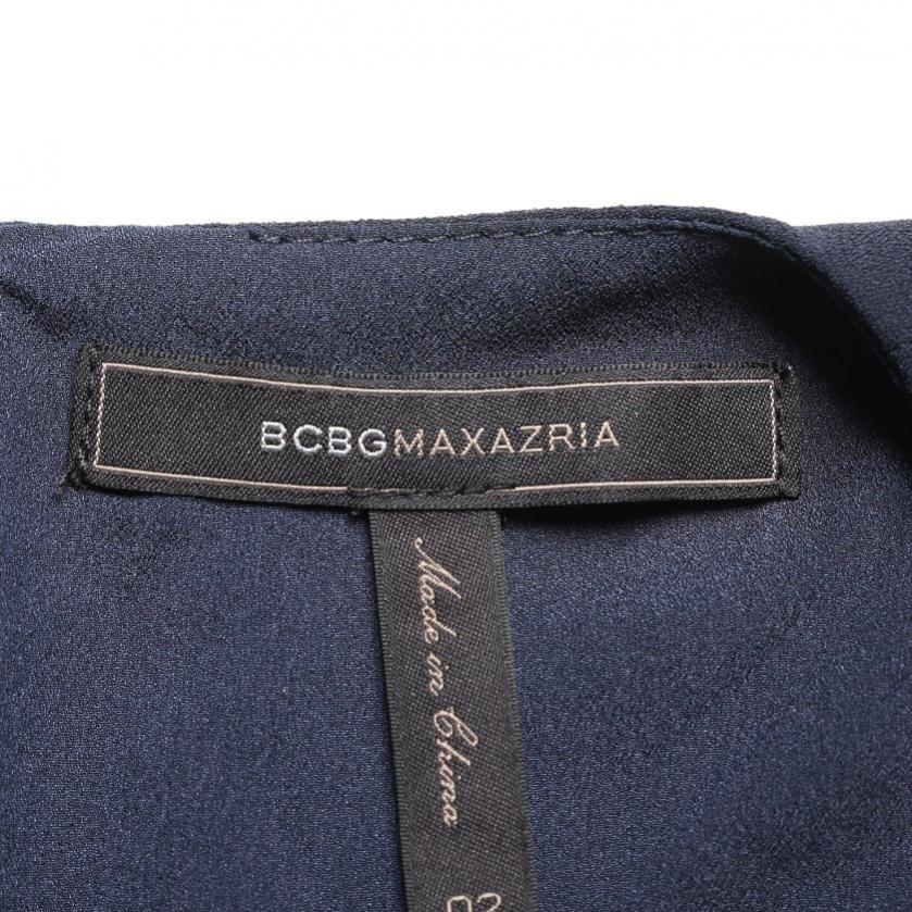 BCBG MAXAZRIA・ワンピース・Tyrah Sleeveless Ruffle Dress ワンピース ノースリーブ ネイビー フリル