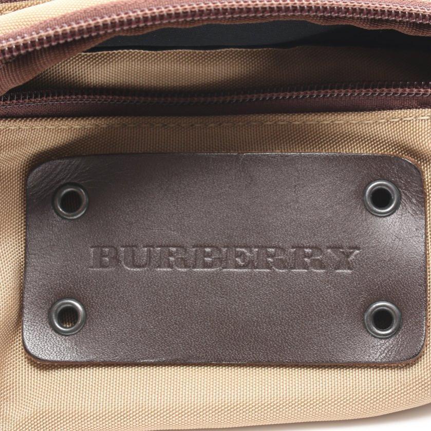 BURBERRY・バッグ・ウエストポーチ ボディバッグ ナイロンキャンバス レザー ベージュブラウン ダークブラウン
