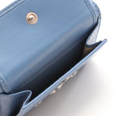 JIMMY CHOO・財布・小物・NEMO ネモ コンパクト財布 三つ折り財布 レザー 青 スタースタッズ