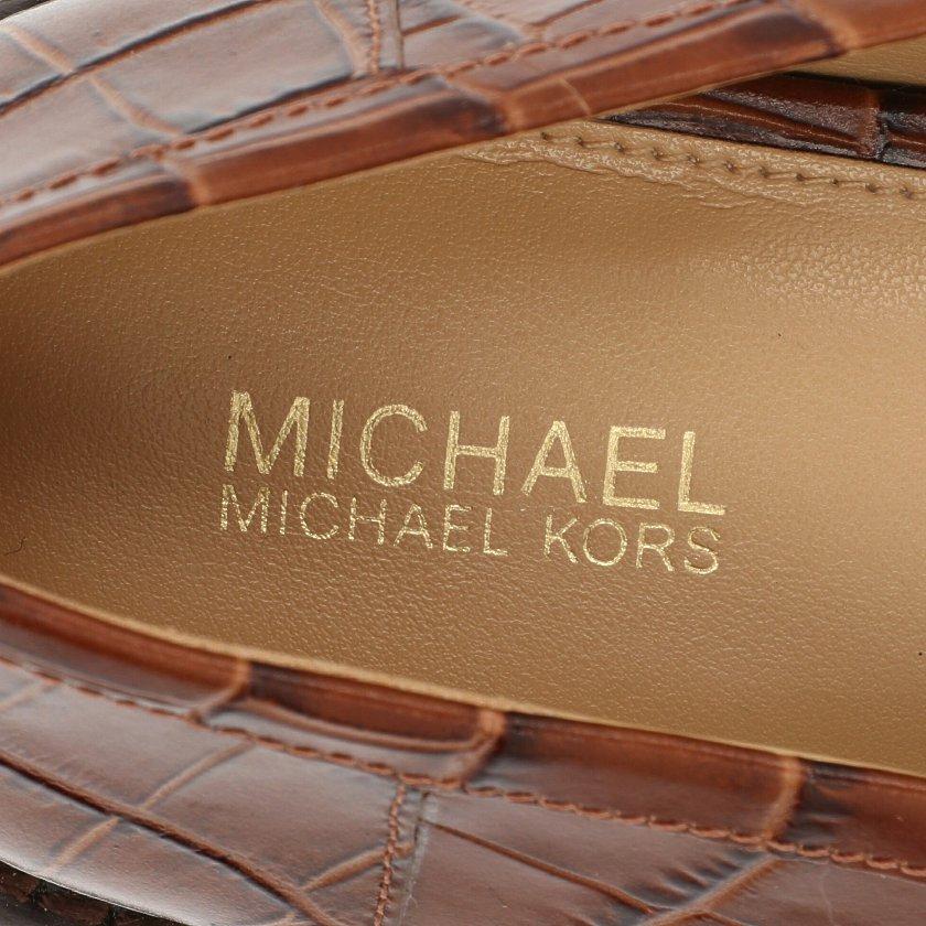 MICHAEL MICHAEL KORS・シューズ・ローファー カジュアルシューズ レザー 茶色 クロコ型押し