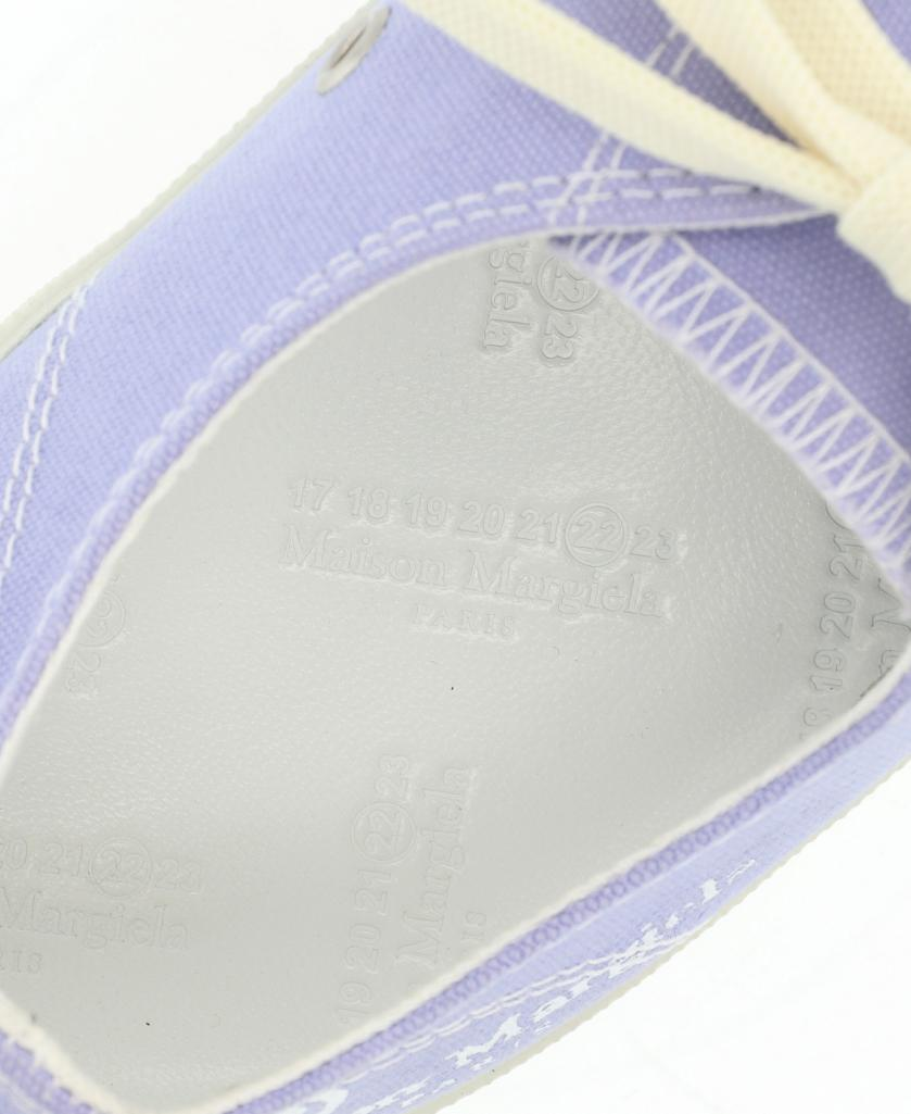 Maison Margiela 22・シューズ・Tabi Low Top タビ スニーカー キャンバス レザー 紫 白 ローカット