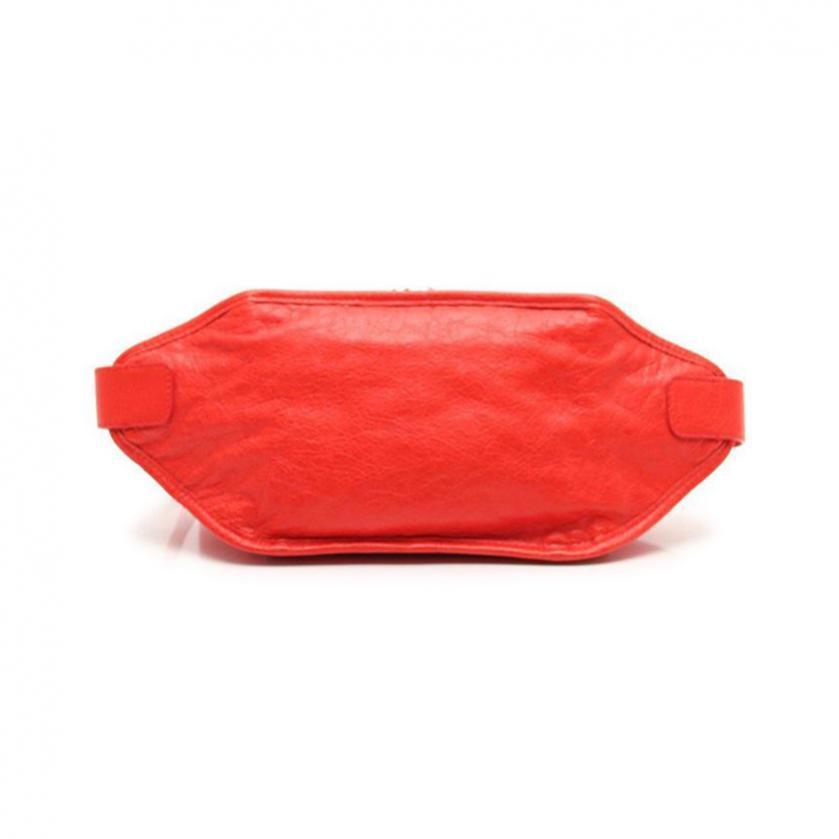 BALENCIAGA・バッグ・クラシック ネオ リフト ベルトバッグ ボディバッグ レザー 赤