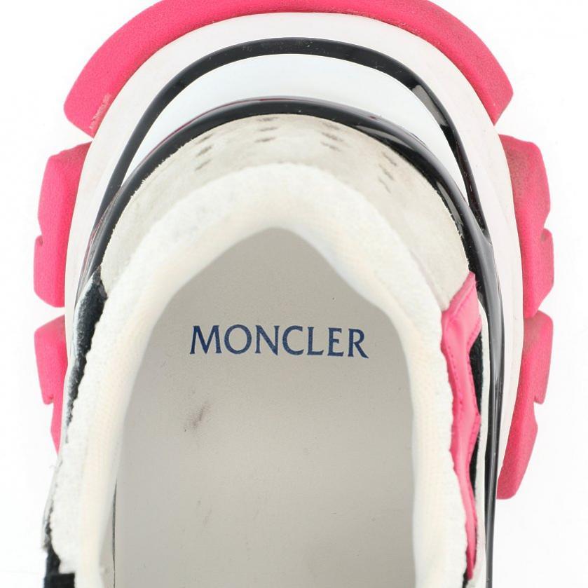 MONCLER・シューズ・LEAVE NO TRACE スニーカー レザー スエード 白 黒 ピンク ライトグレー 20SS