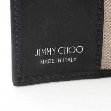 JIMMY CHOO・財布・小物・NEPTUNE 6連キーケース レザー 黒 シルバー スタースタッズ