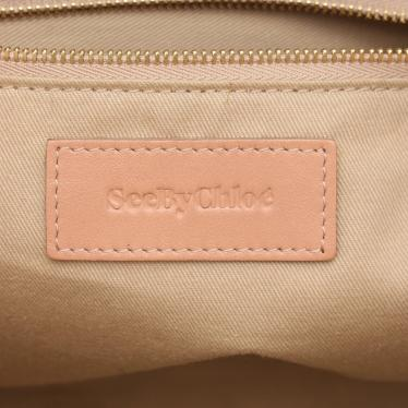 See by Chloe・バッグ・ ハンドバッグ レザー ピンク 茶色 2WAY