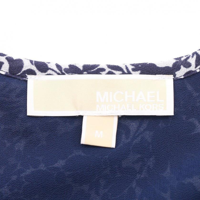 MICHAEL MICHAEL KORS・トップス・ ブラウス 花柄 半袖 青 白