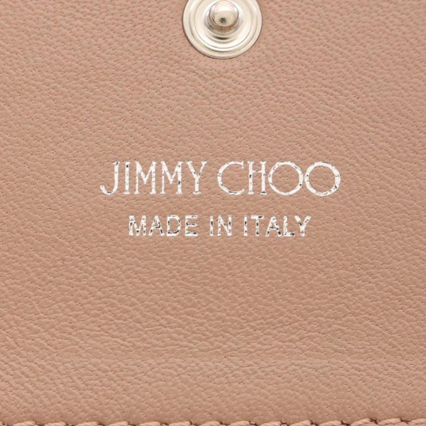 JIMMY CHOO・財布・小物・NELLO 名刺入れ カードケース レザー ピンク スタースタッズ