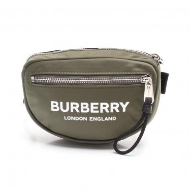 BURBERRY LONDON・バッグ・CANON PRINTED BLE NYLON ウエストポーチ ボディバッグ ナイロン カーキグリーン 黒