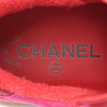CHANEL・シューズ・ココマーク ビコローレ スニーカー スエード レザー ナイロン ピンク 紫 赤 19B