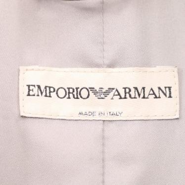 EMPORIO ARMANI・アウター・ ジャケット 千鳥格子柄 グレー パイル