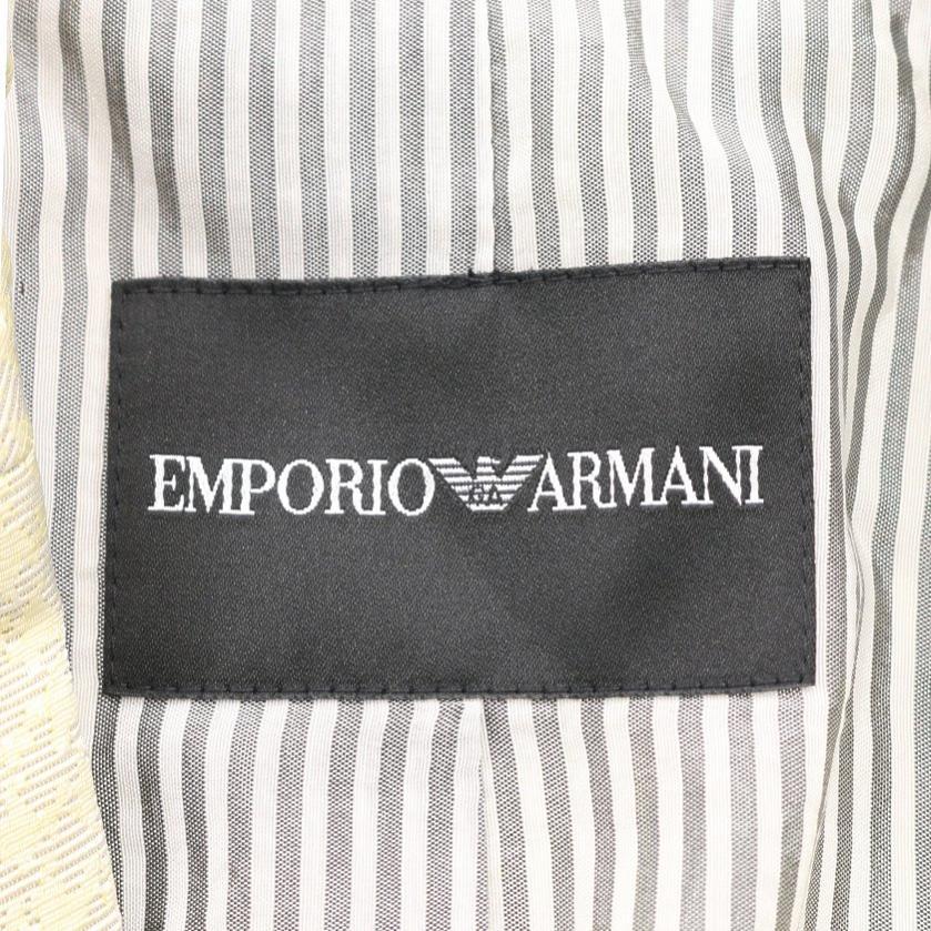 EMPORIO ARMANI・アウター・ テーラードジャケット 千鳥格子 イエローグリーン