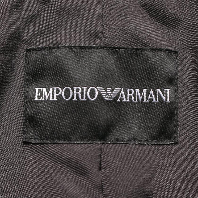 EMPORIO ARMANI・アウター・ テーラードジャケット レザー ダークグレー