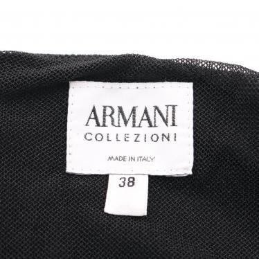 Armani Collezioni・ワンピース・ドレス ワンピース ノースリーブ 黒 ラインストーン