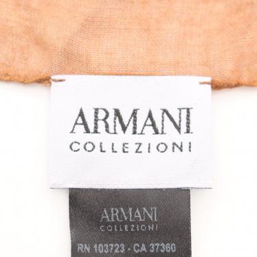 Armani Collezioni・財布・小物・ ストール レーヨン 茶色 ブルーグリーン グラデーション