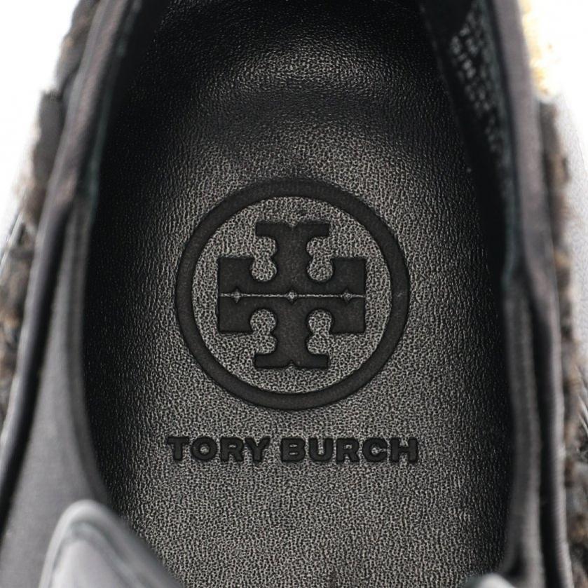 TORY BURCH・シューズ・ROSETTE HIGH TOP SNEAKER スニーカー レザー 黒 フラワー サイドゴア