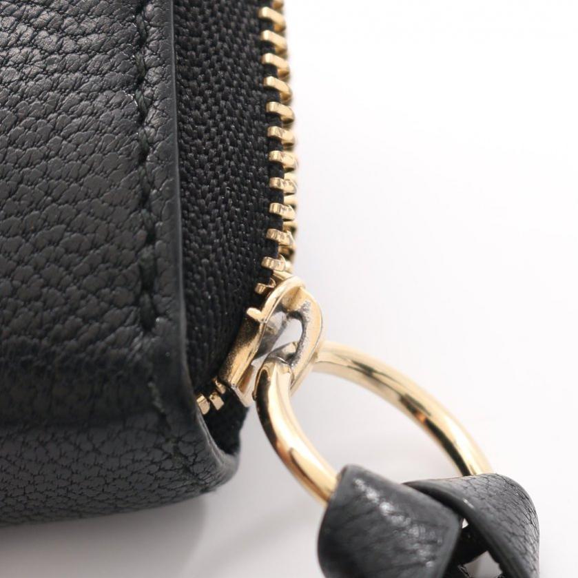 JIMMY CHOO・財布・小物・REID GRZ コインケース 小銭入れ 財布 レザー 黒 ラウンドファスナー