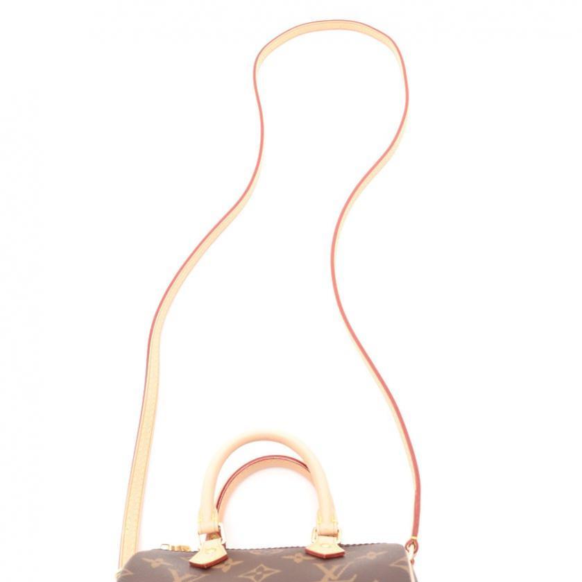LOUIS VUITTON・バッグ・ナノスピーディ モノグラム ショルダーバッグ PVC レザー 茶 2WAY