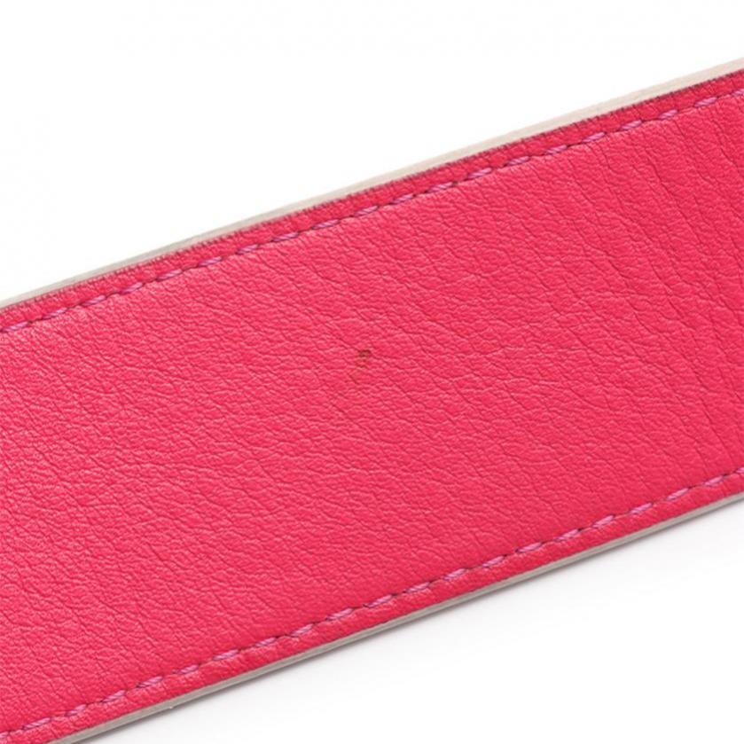 LOUIS VUITTON・財布・小物・ストラップ モノグラム ショルダーストラップ PVC レザー 茶色 ホットピンク
