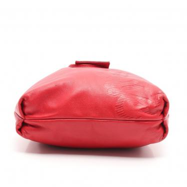 LOEWE・バッグ・アナグラム ショルダーバッグ レザー 赤 巾着