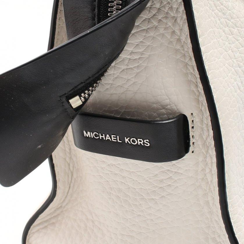 MICHAEL MICHAEL KORS・バッグ・Ingrid Medium ハンドバッグ レザー 白 黒 2WAY