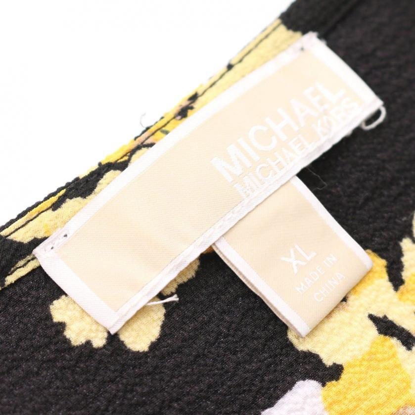 MICHAEL MICHAEL KORS・ワンピース・ラップワンピース 花柄 黒 黄