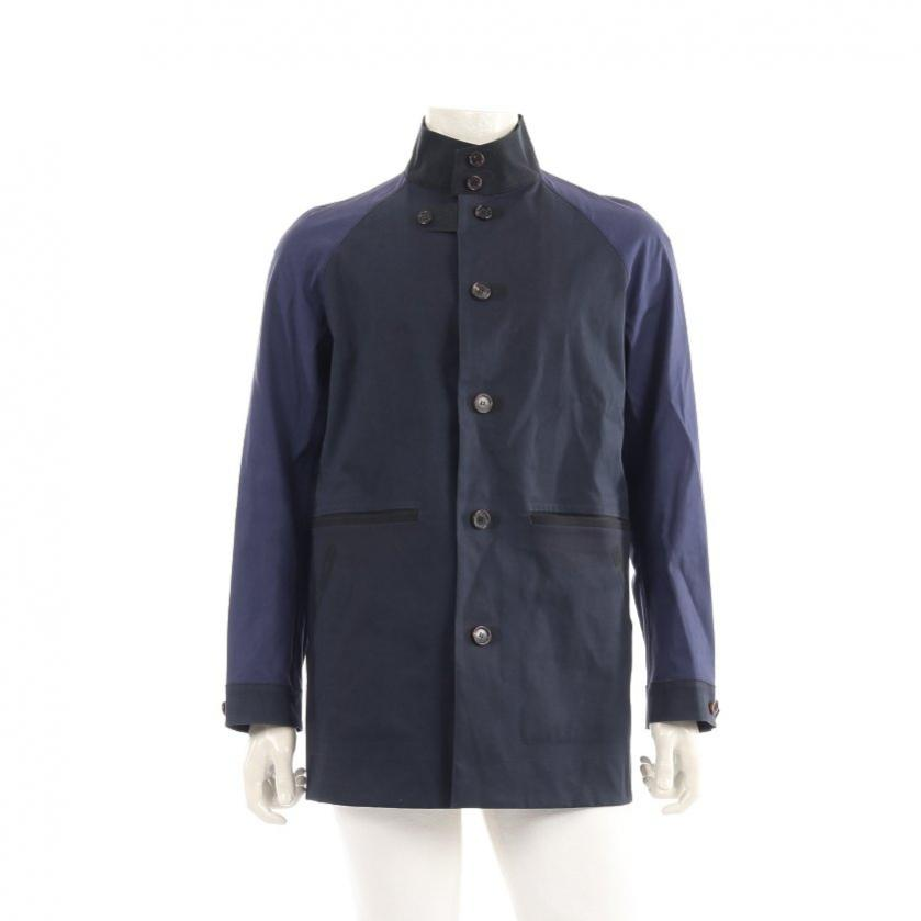 COMME des GARCONS HOMME・アウター・COMME des GARCONS HOMME × Sealup コート ダークネイビー 紫 黒 ゴム引き