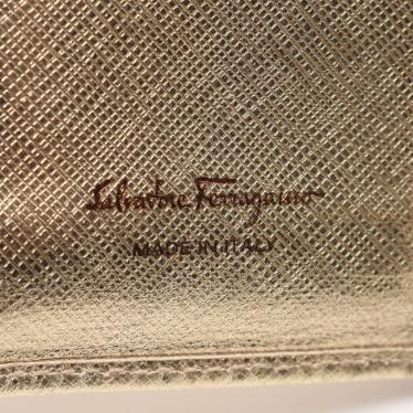 Salvatore Ferragamo・財布・小物・ヴァラリボン 二つ折り長財布 レザー シャンパンゴールド