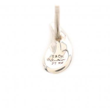 TIFFANY & Co.・アクセサリー・ティアドロップ エルサペレッティ ピアス Pt950 シルバー
