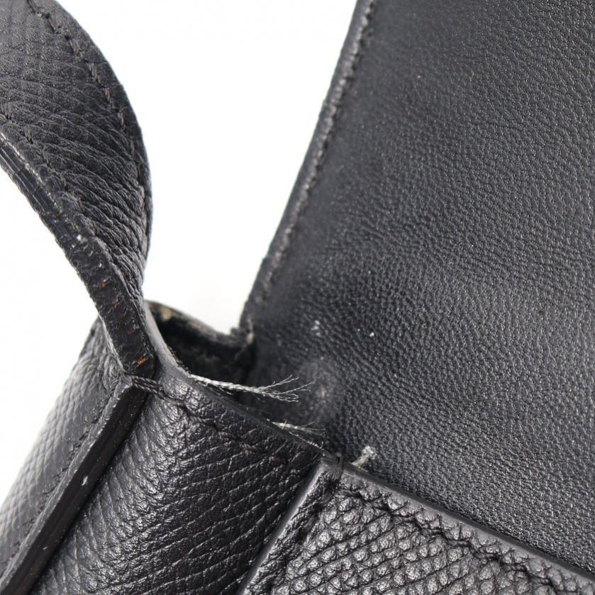 CELINE・バッグ・トロッター ミディアム ショルダーバッグ レザー 黒