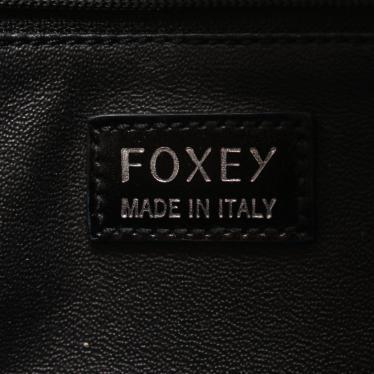 FOXEY・バッグ・マディソン ハンドバッグ レザー ネイビー 黒