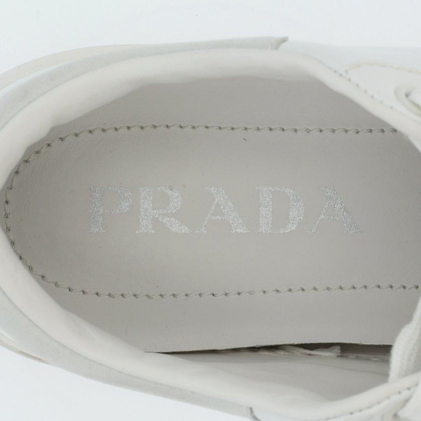 PRADA・シューズ・スニーカー レザー 白 ロゴ 厚底