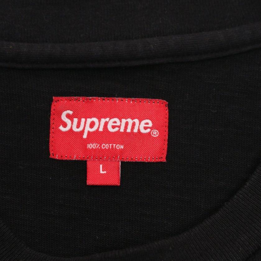 Supreme・トップス・Pocket Tee ポケットTシャツ カットソー 黒