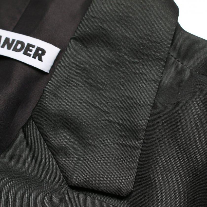 JIL SANDER・アウター・ テーラードジャケット シルク ダークグリーン シングルブレスト