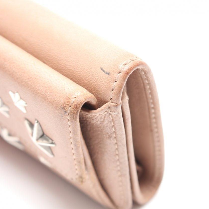 JIMMY CHOO・財布・小物・NEMO コンパクトウォレット 三つ折り財布 レザー ピンクベージュ スタースタッズ