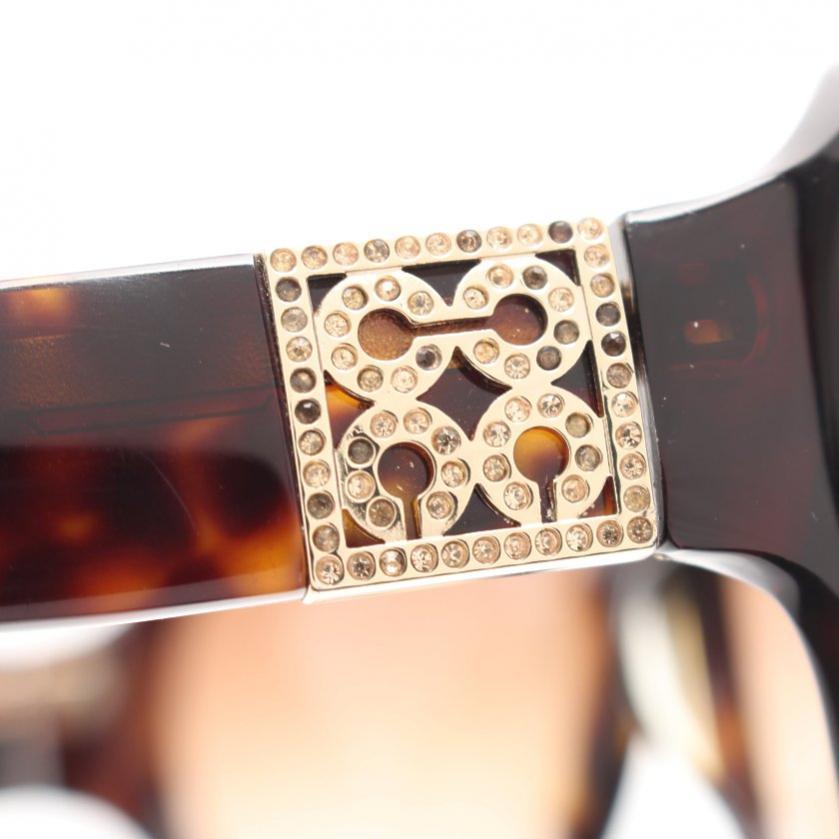 COACH・財布・小物・HALDEN オプアート サングラス 茶色 ベージュ ラインストーン グラデーションレンズ