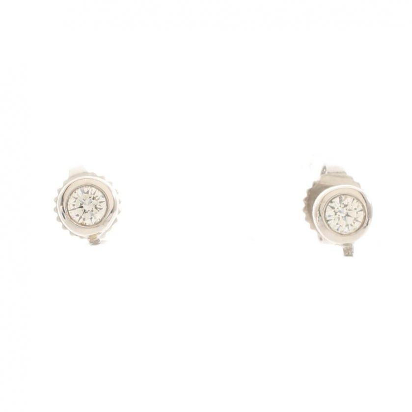 TIFFANY & Co.・アクセサリー・バイザヤード ピアス Pt950 ダイヤモンド プラチナ 1Pダイヤ