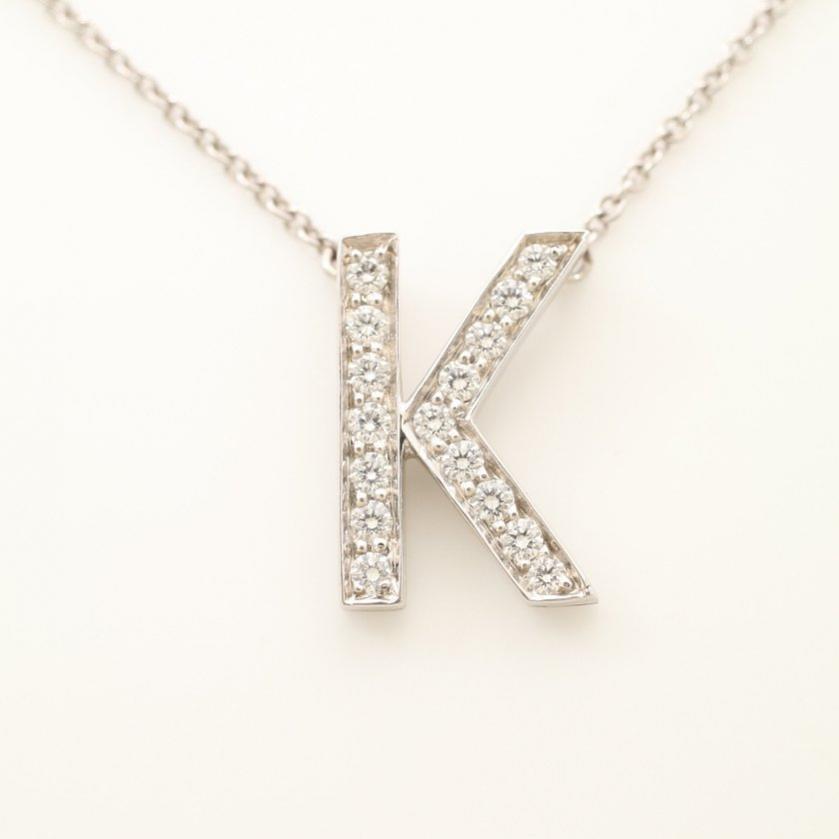 TIFFANY & Co.・アクセサリー・イニシャル K ネックレス Pt950 ダイヤモンド プラチナ