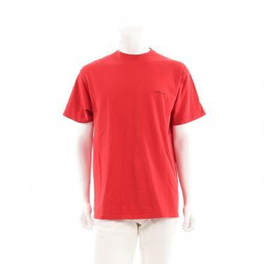 BALENCIAGA・トップス・Tシャツ カットソー 赤 オーバーサイズ ミニロゴ