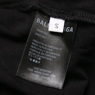 BALENCIAGA・トップス・キャンペーンロゴ Tシャツ カットソー 黒 赤 白