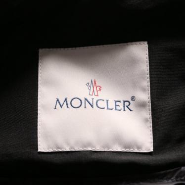MONCLER・アウター・FIOU ダウンコート レース ノーカラー 黒 切替