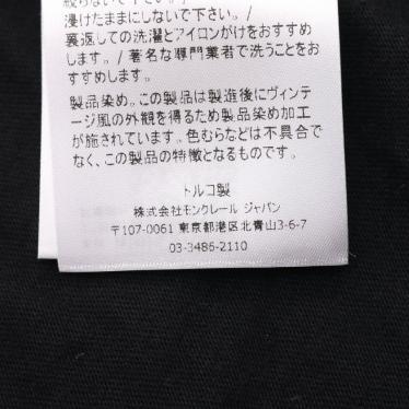 MONCLER・トップス・Tシャツ カットソー 黒 サイドロゴ